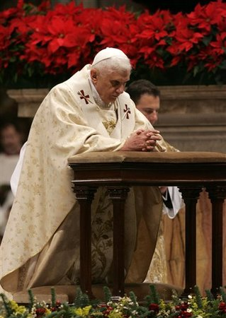 The Pope during Midnight Mass
