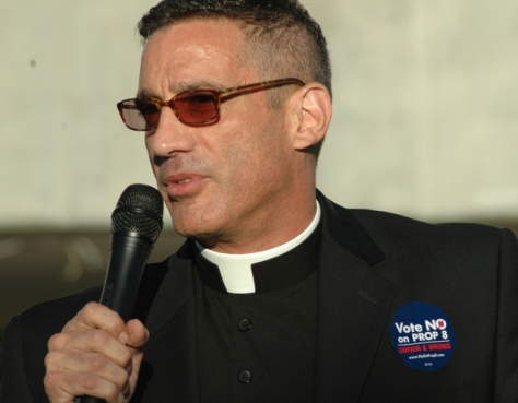 Suspended Priest Fr. Farrow Keynote Speaker at No on 8 Rally in Fresno, Ca. on Nov. 2nd. Calls for protest outside Our Lady of Angels in Los Angeles.