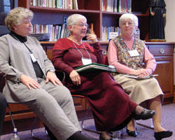 Sister Louise Akers (Left) refused to renounce false teaching on the ordination of women in Cincinnati.
