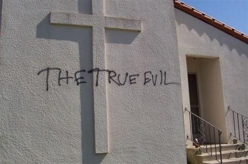 Santa Cruz: Holy Cross Catholic Church vandalized by bad spirits |